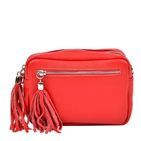 Isabella Rhea Red Leather Shoulder Bag