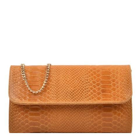 Isabella Rhea Cognac Clutch Bag