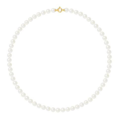 Ateliers Saint Germain Yellow Gold Freshwater Pearl Necklace 7-8mm
