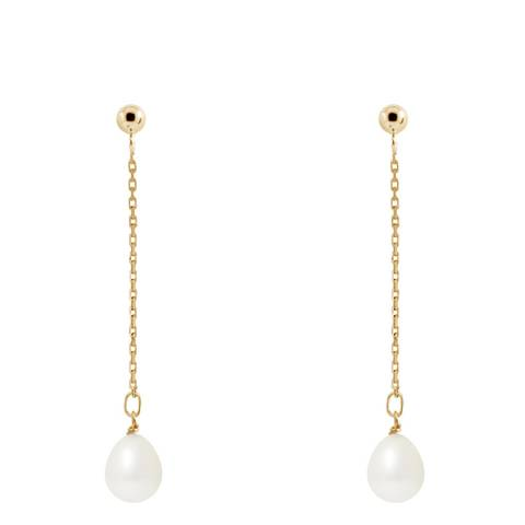 Atelier Pearls Yellow Gold Freshwater Pearl Earrings 7-8mm