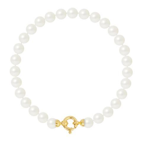 Ateliers Saint Germain Yellow Gold Freshwater Pearl Bracelet 6-7mm