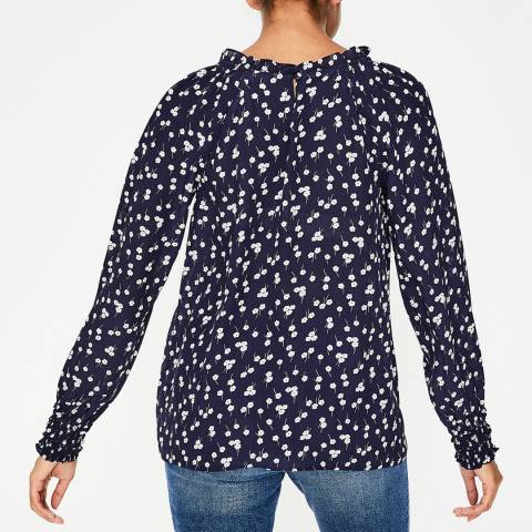 f92a4b136ae41 Navy Blossom Small Sadie Silk Top - Boden Womenswear - Sales - Women ...