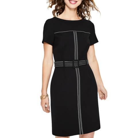 Boden Black Anita Stitch Detail Dress
