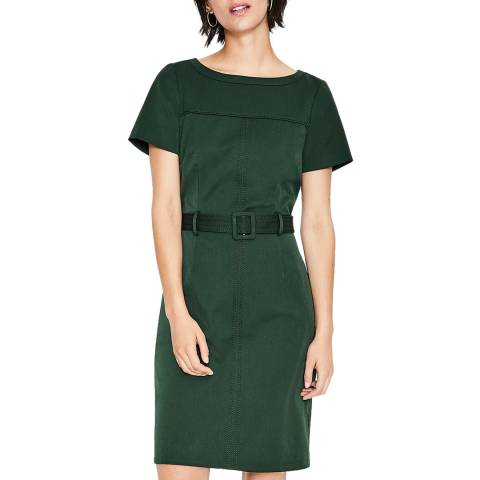 Boden Chatsworth Green Anita Stitch Detail Dress