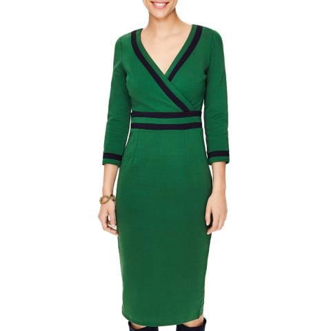 Boden Amazon Green Nellie Ponte Dress