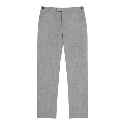 Reiss Grey Bravo Modern Wool Suit Trousers
