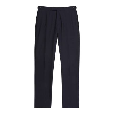 Reiss Navy Bravo Modern Wool Suit Trousers
