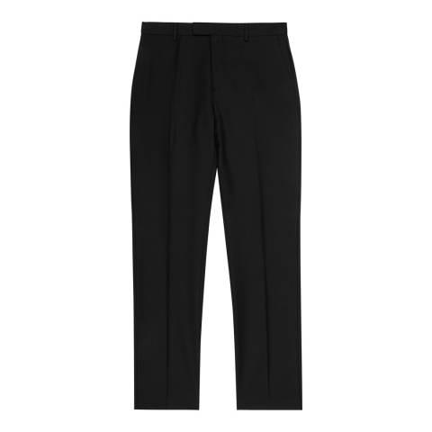 Reiss Black Harry Modern Wool Suit Trousers