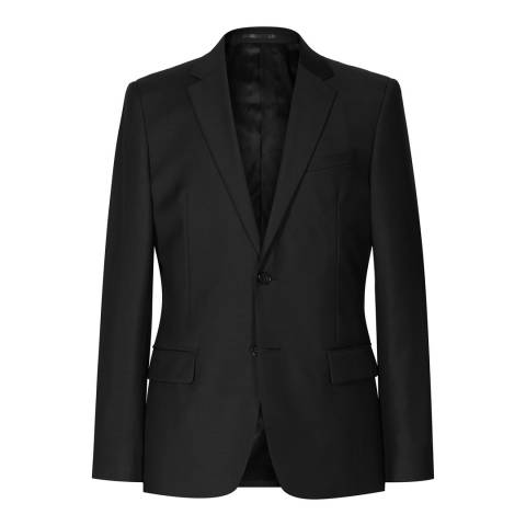 Reiss Black Harry B Modern Wool Suit Jacket