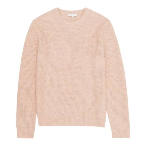 Reiss Soft Pink Aston Ribbed Jumper