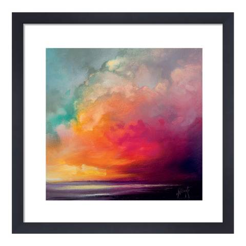 Scott Naismith Sunset Cumulus Study 1 Framed Print, 40x40cm