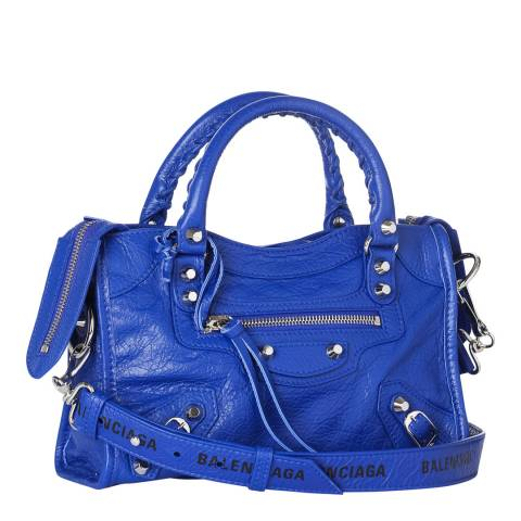 Balenciaga Cobalt Blue Classic City Mini