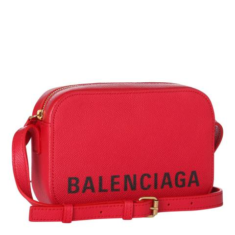 Balenciaga Red Logo Camera Bag