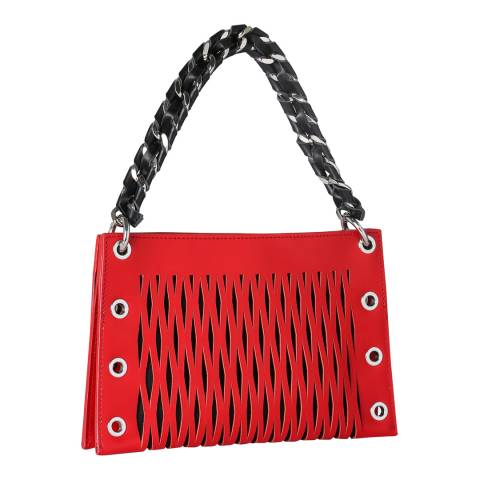 SONIA BY SONIA RYKIEL Red Baltard Double Pouch Bag