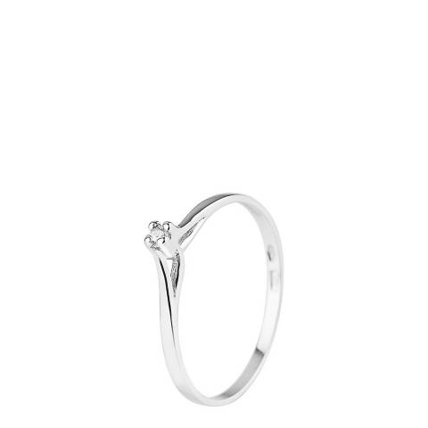 Only You Silver Solitaire Diamond Ring 0.03cts