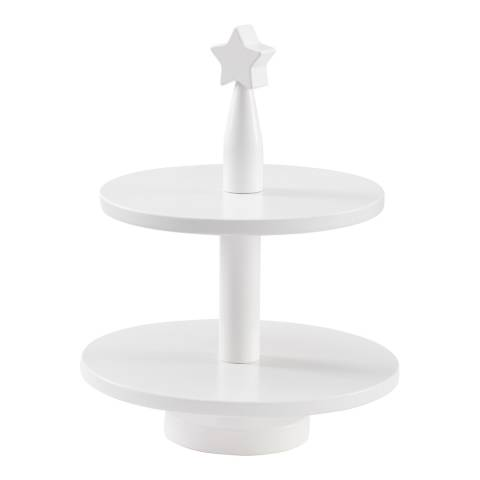 Kids Concept White Wooden Cake Stand