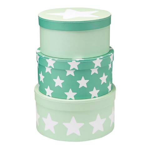 Kids Concept Green Star Set of 3 Storage Boxes