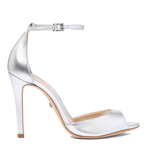 Schutz Silver Metallic Saasha Lee Heeled Sandal
