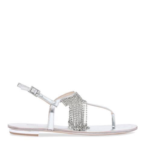 Schutz Silver Metallic Felicien Sandal