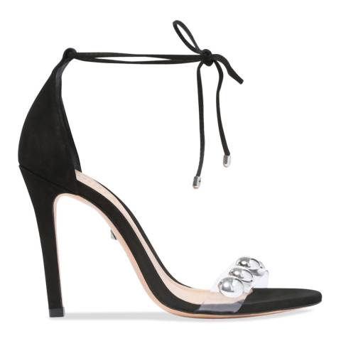 Schutz Black & Transparent Ramon Heeled Sandal