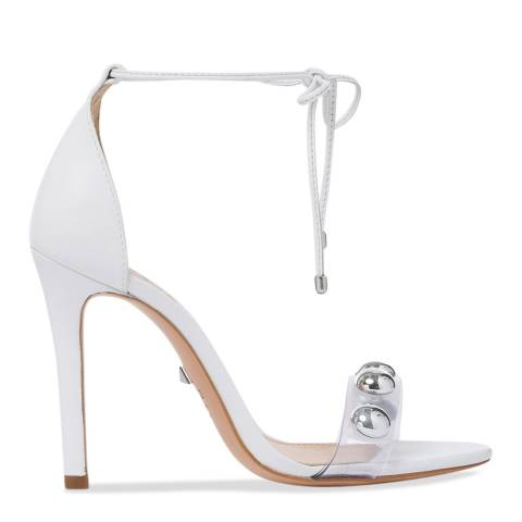 Schutz White & Transparent Ramon Heeled Sandal