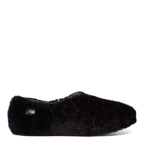 Australia Luxe Collective Black Fluffy Wool Henry Slippers