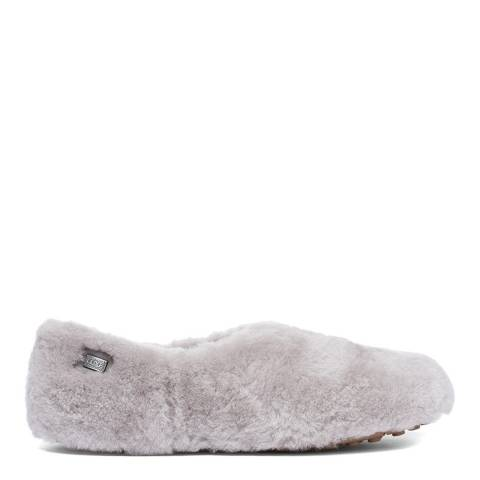 Australia Luxe Collective Grey Fluffy Wool Henry Slippers