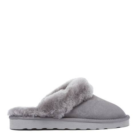 Australia Luxe Collective Grey Shearling Mool Classic Mule Slipper