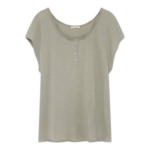 American Vintage Beige Tunisian Collar Sleeveless Tee-Shirt