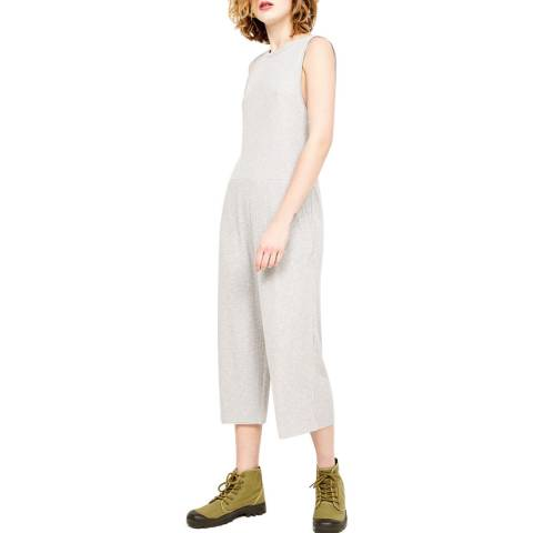 American Vintage Grey Round Collar Tank Top Jumpsuit