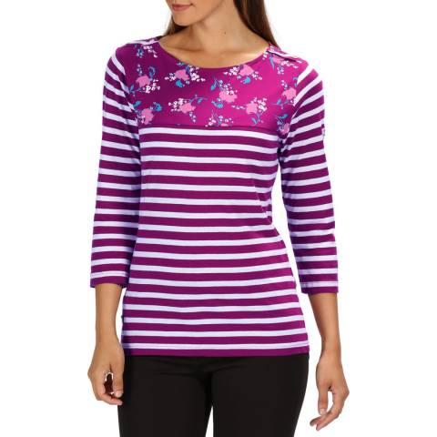 Regatta Purple Floral Stripe Pandara T-Shirt
