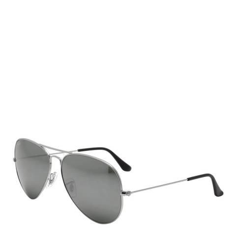 Ray-Ban Unisex Silver Ray-Ban Aviator Sunglasses 58mm