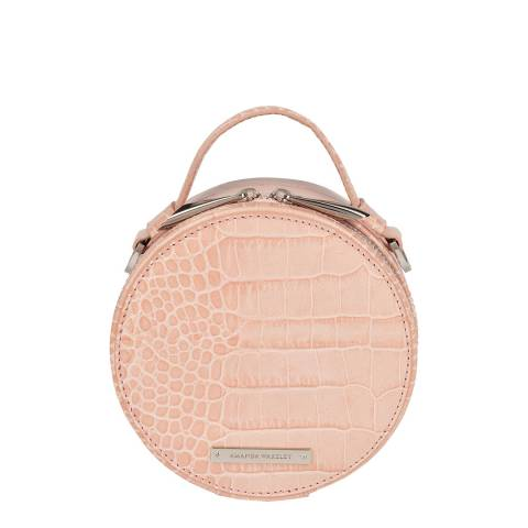 Amanda Wakeley Blush Croc Ross Jewellery Case