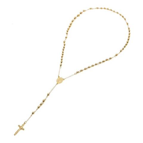 Stephen Oliver 18K Gold Religious Rosary Necklace