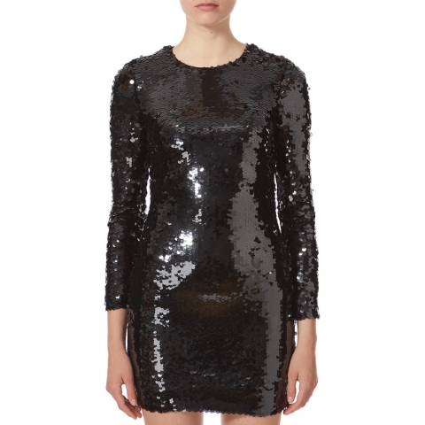 Karen Millen Black Sequin Mini Dress