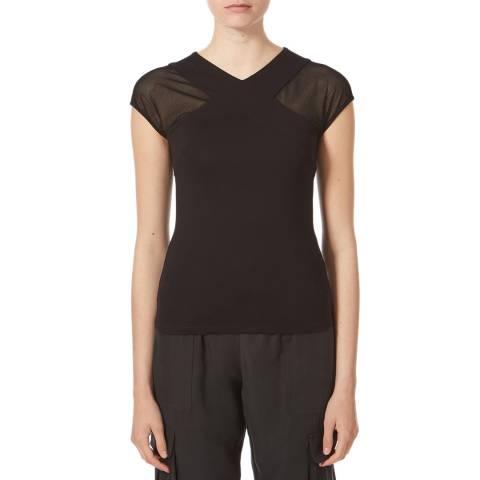 Karen Millen Black Lace Panel Top