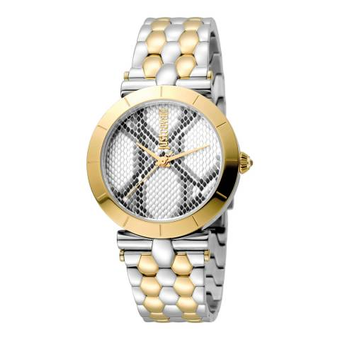 Just Cavalli Sterling Silver/Gold Plated Watch 34mm
