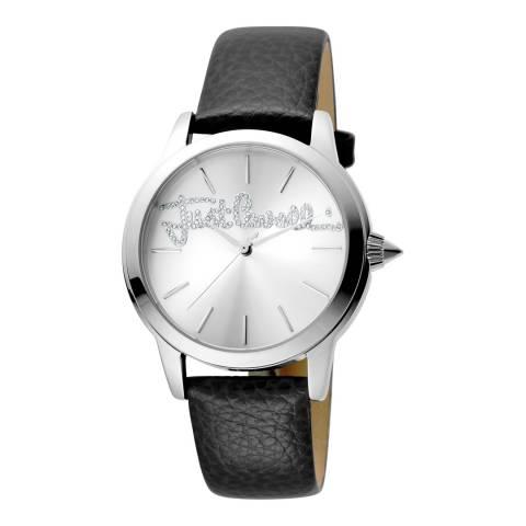 Just Cavalli Light Brown Leather Strap Watch 36mm