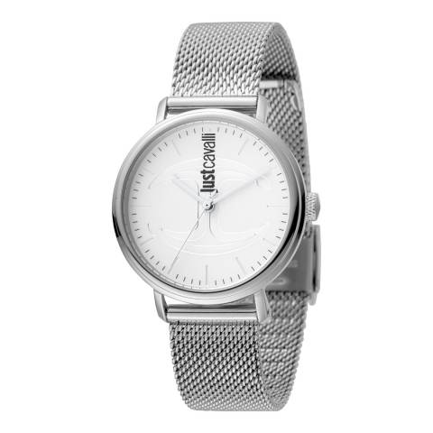 Just Cavalli Sterling Silver Watch 34mm