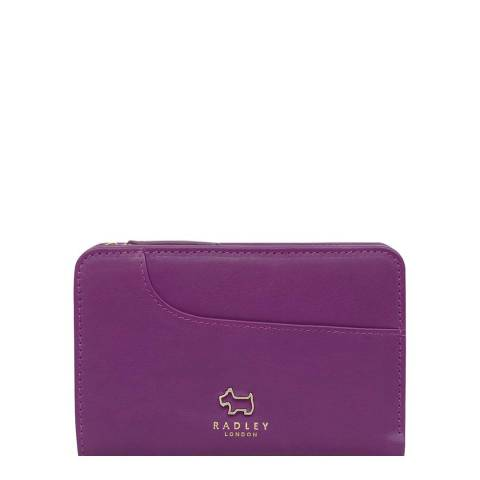 Radley Purple Medium Ziptop Purse