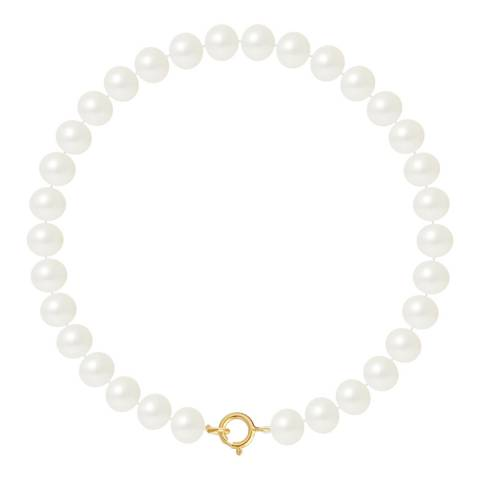 Just Pearl Gold Round Pearl Row Bracelet 6-7mm