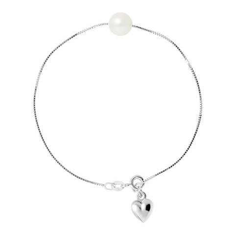 Just Pearl Natural White Round Pearl Bracelet 8-9mm