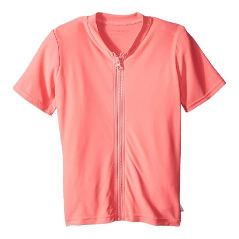Seafolly Rose Pink Zip Front Rashie