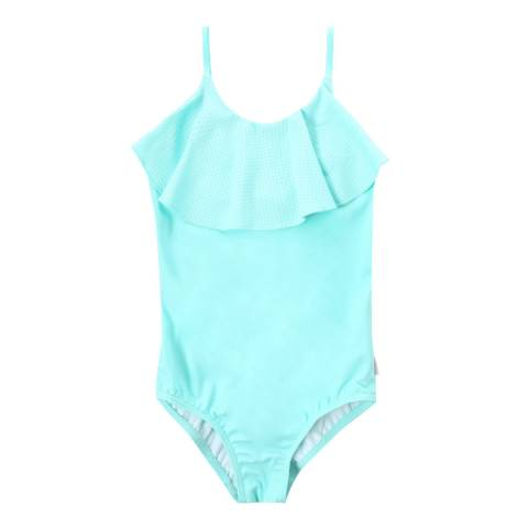 Seafolly Emerald Blue Ruffle Swimsuit