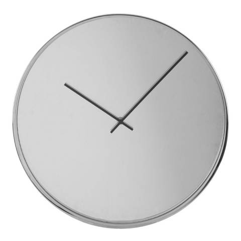 Premier Housewares Bailie Chrome/Mirror Wall Clock