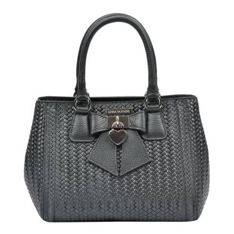 Luisa Vannini Black Luisa Vannini Bow Detail Tote Bag