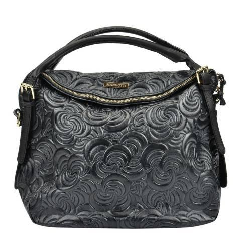 Mangotti Black Mangotti Swirl Design Top Handle Bag