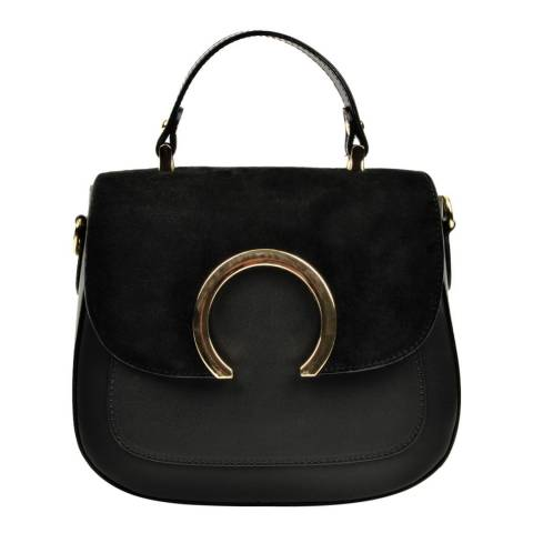 Luisa Vannini Black Luisa Vannini Metal Detail Bag