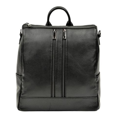 Luisa Vannini Black Luisa Vannini Double Zip Backpack
