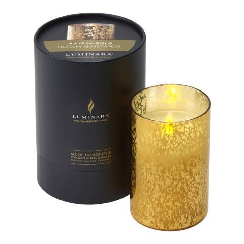 Luminara Gold Mercury Glass Candle 13cm